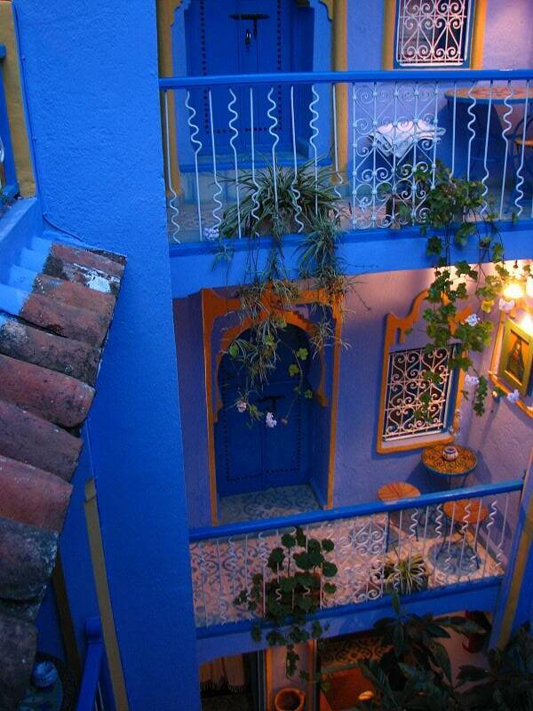 Blue Balcony In Chefchaouen