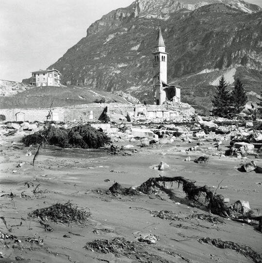 Church Destroyed By Vajont Dam