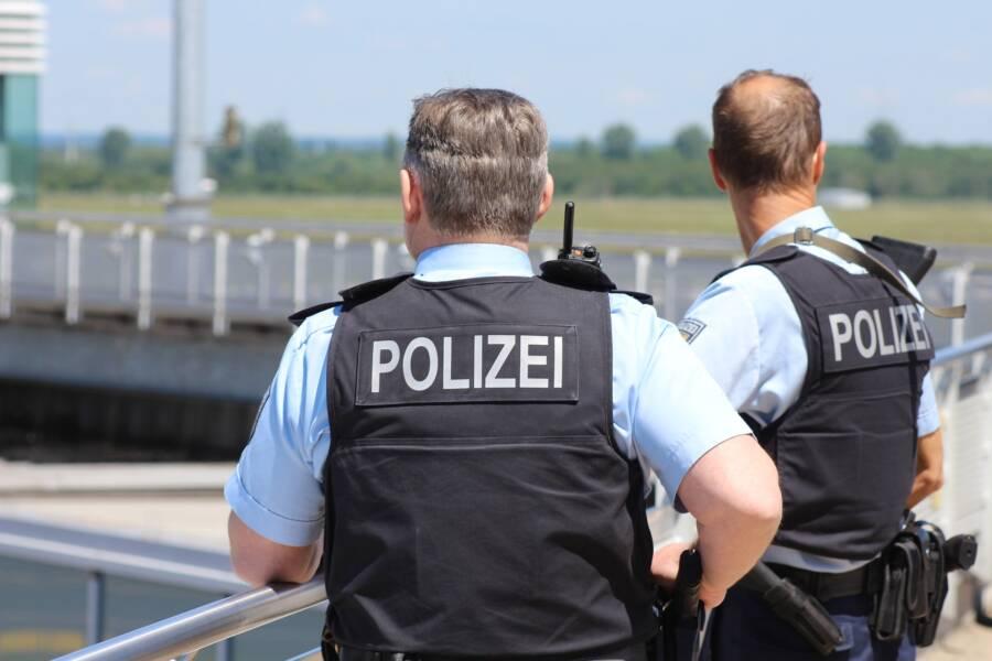 German Police Officers Near Park