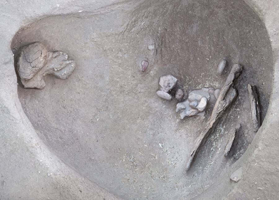 Hunting Tools Inside Burial