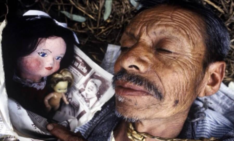 Julián Santana Barrera With Doll