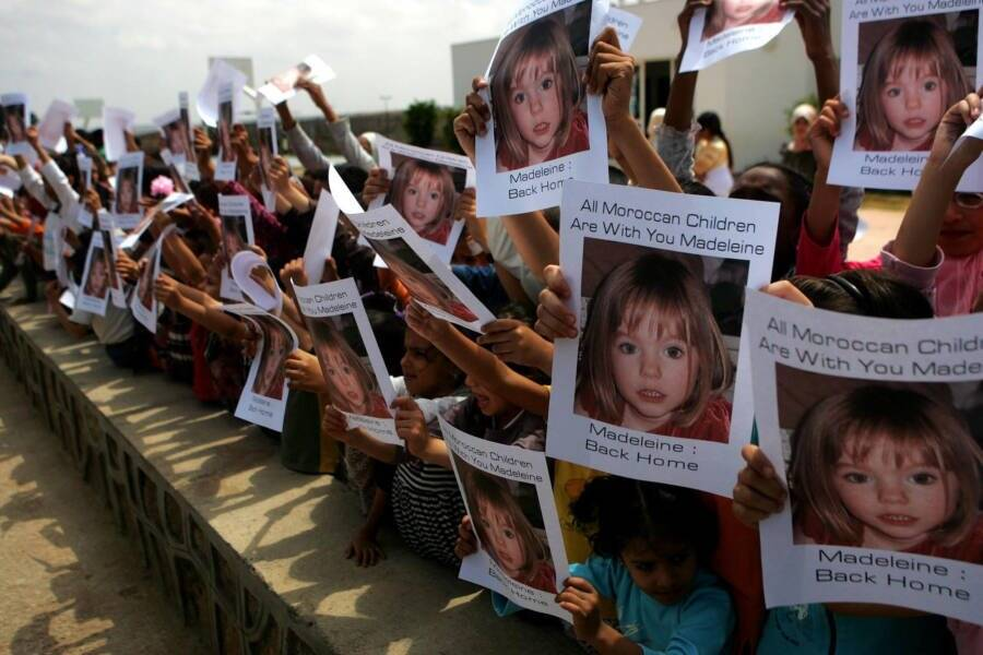 Madeleine Mccann Supporters In Morocco
