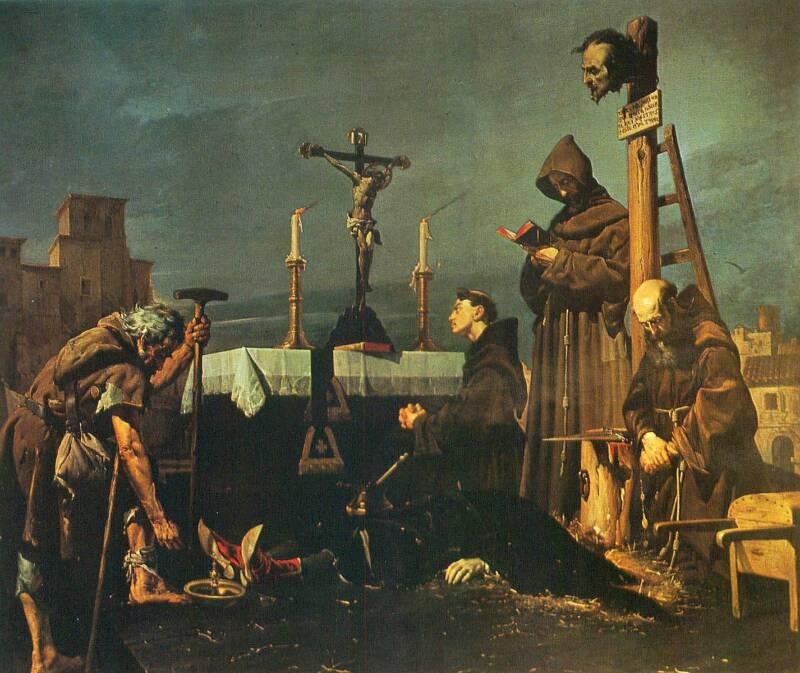 Medieval Execution Of Don Alvaro De Luna