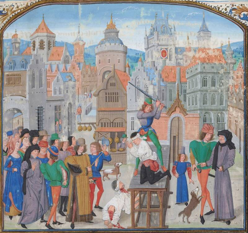 Medieval Execution Of Guillaume Sans