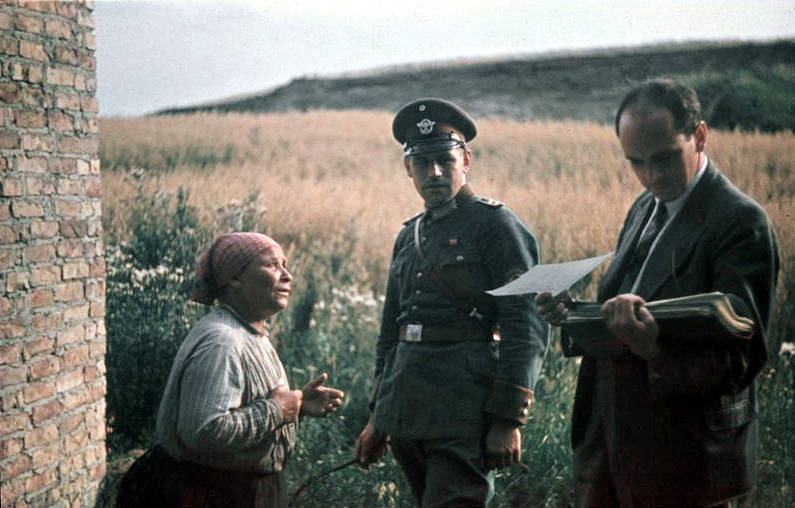 Nazis Inspecting Roma Papers