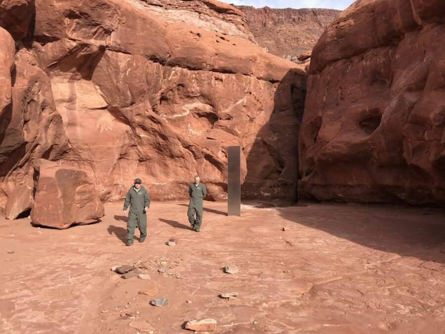 Officials At Utah Monolith