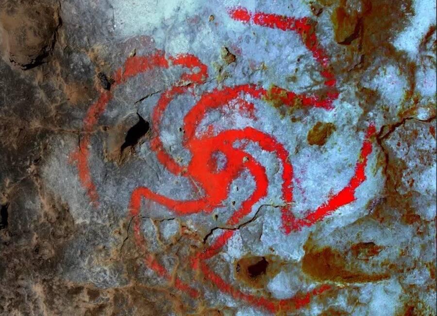 Red Pinwheel Cave Rock Art