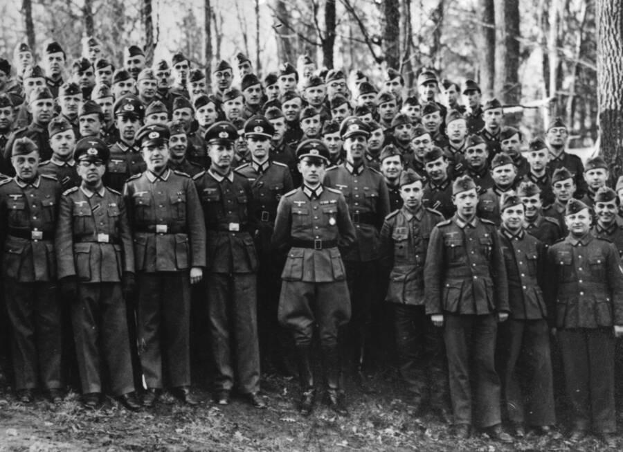 Reinhard Gehlen With Wehrmacht Soldiers