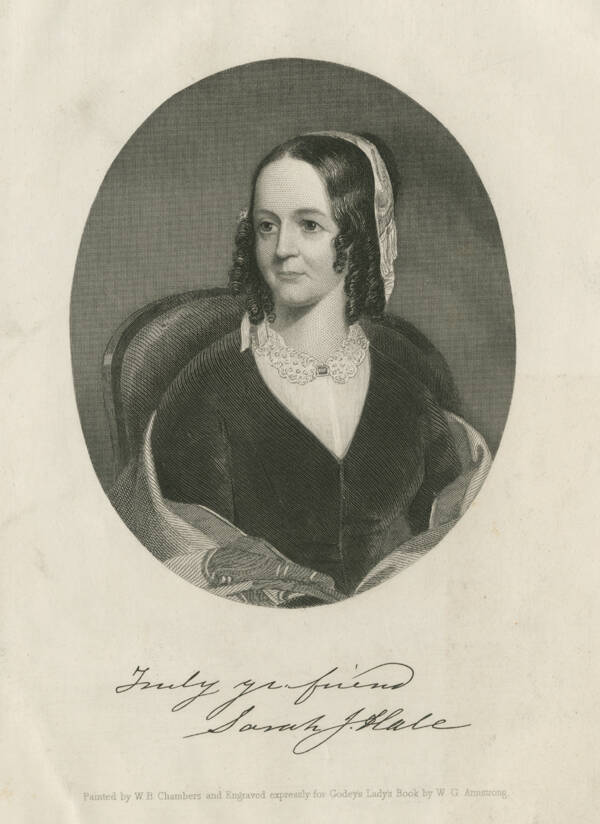 Engraving Of Sarah Hale
