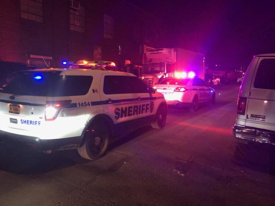 Sheriff Cars At Bronx Fight Club