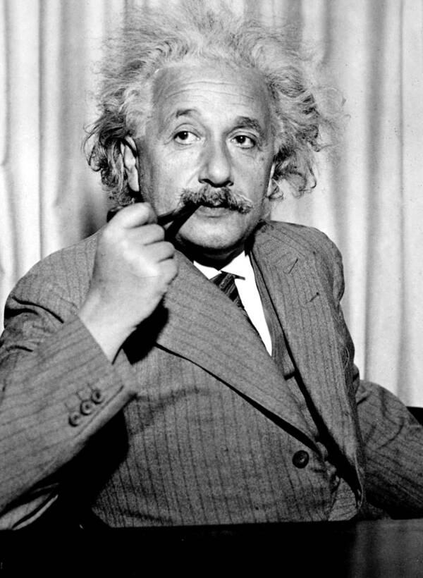 Albert Einstein Smoking