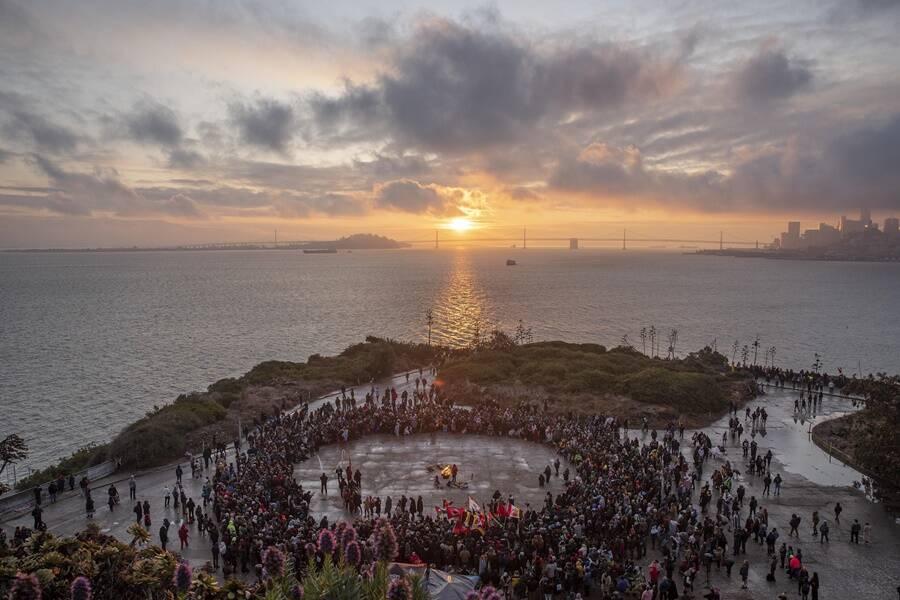 Sunrise Ceremony On Alcatraz