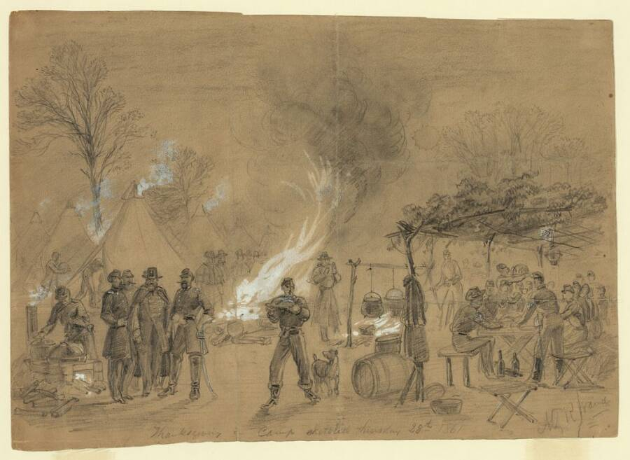Thanksgiving In Camp 1861