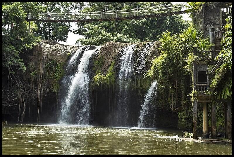 The Waterfall Over Mena Creek