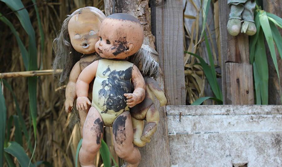 Two Dolls Hugging