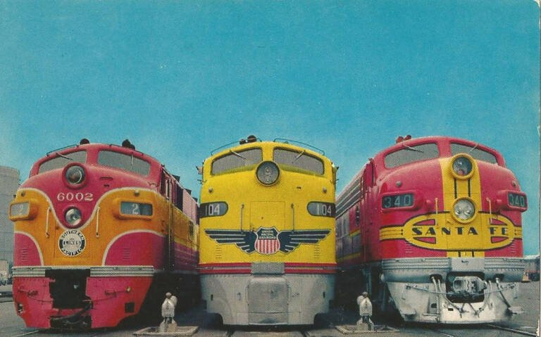 Union Pacific Streamliner Postcard