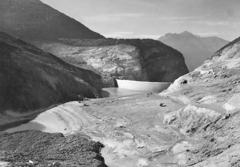 Vajont Dam After Landslide
