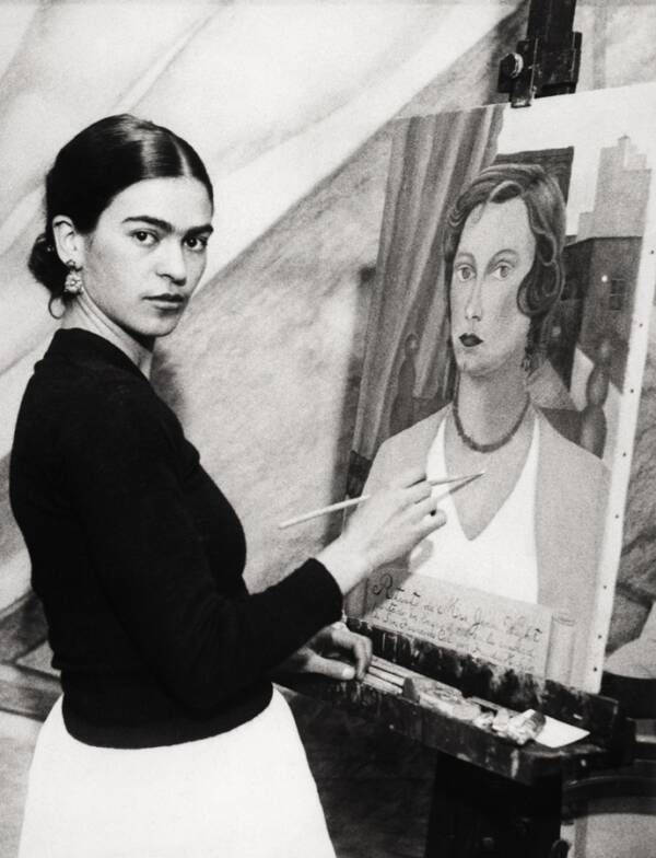 Young Frida Kahlo Painting