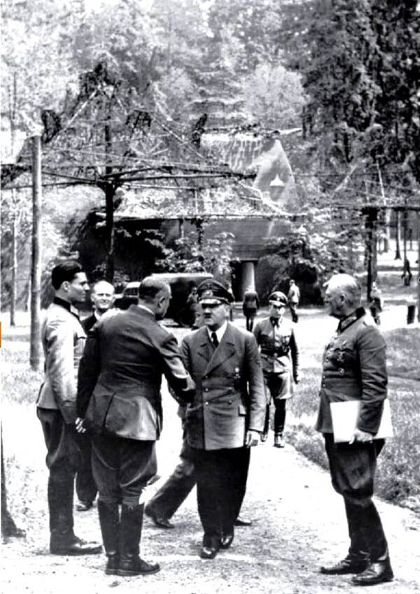 Adolf Hitler At Wolf's Lair