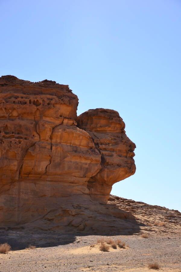 Hegra Rock Face