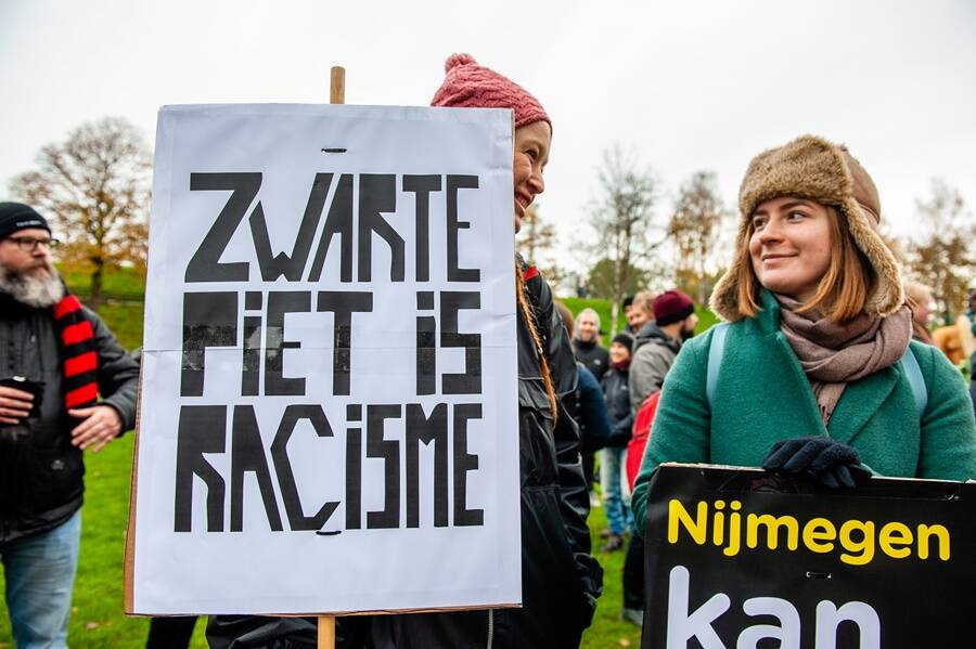 Anti Zwarte Piet Protest Sign