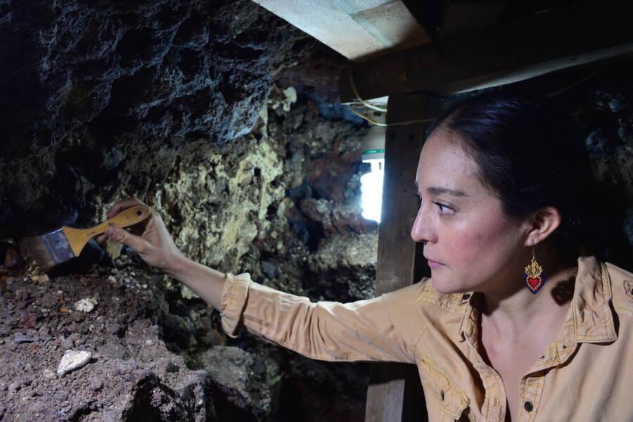 Archaeologist At Huey Tzompantli