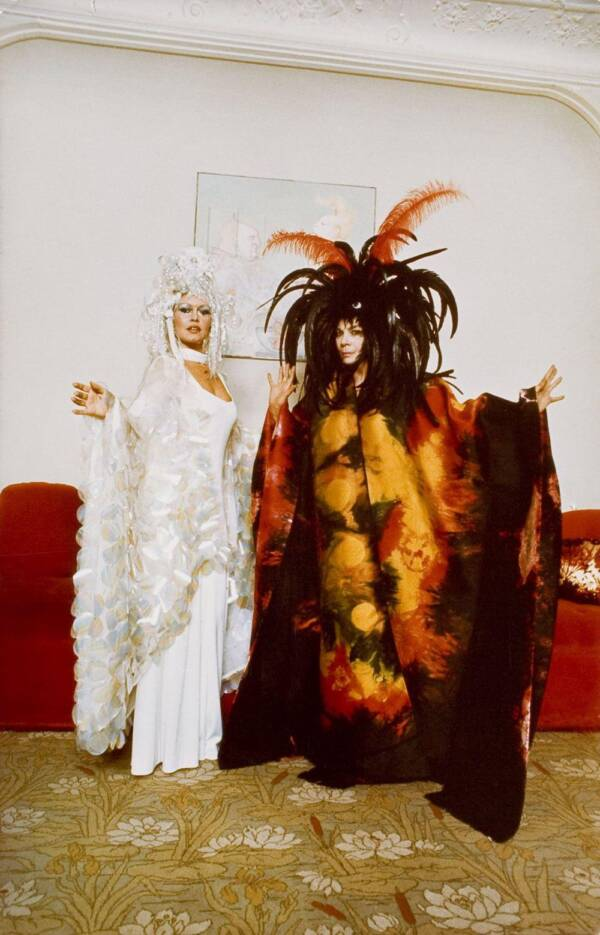 Brigitte Bardot And Leonor Fini Before Rothschild Party