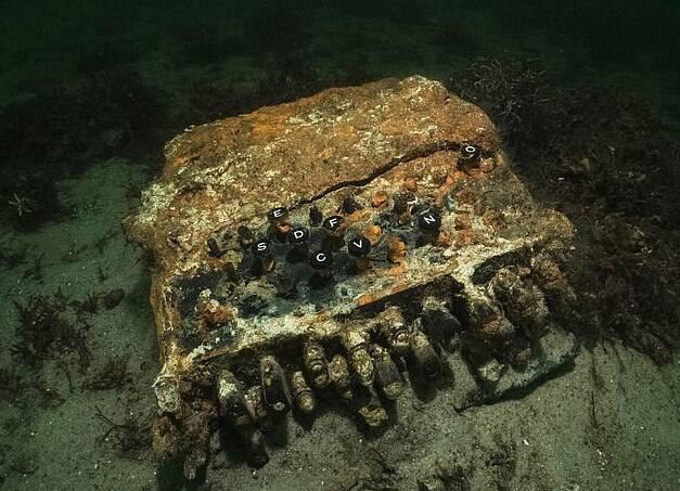 Enigma Machine In Ocean
