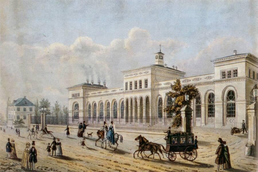 Frankfurt Taunusbanhof Painting