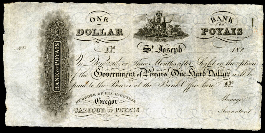 Poyais Currency