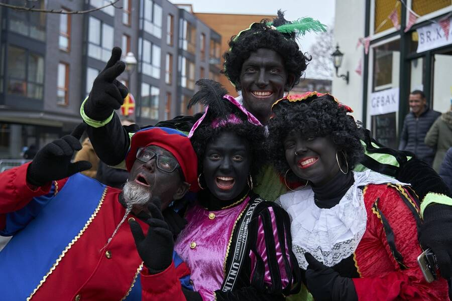 Group Of Blackface Cosplayers