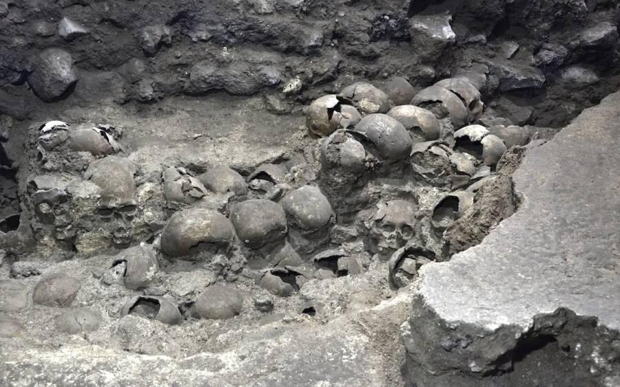 Huey Tzompantli Skulls
