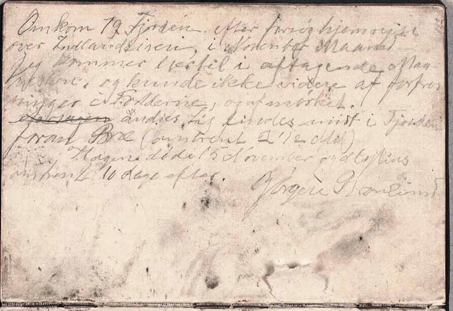 Jørgen Brønlund Diary Entry