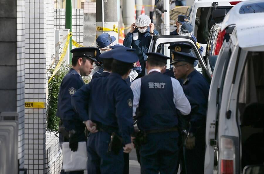 Police At Takahiro Shiraishis Apartment