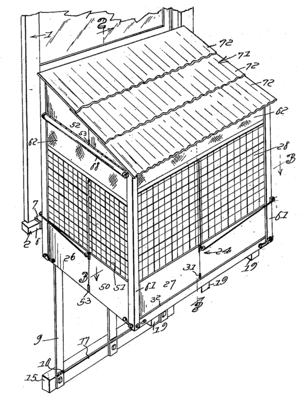 Portable Baby Cage Patent Illustration