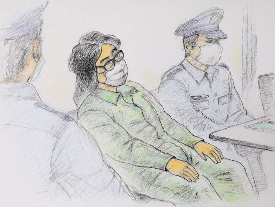 Takahiro Shiraishi Court Sketch