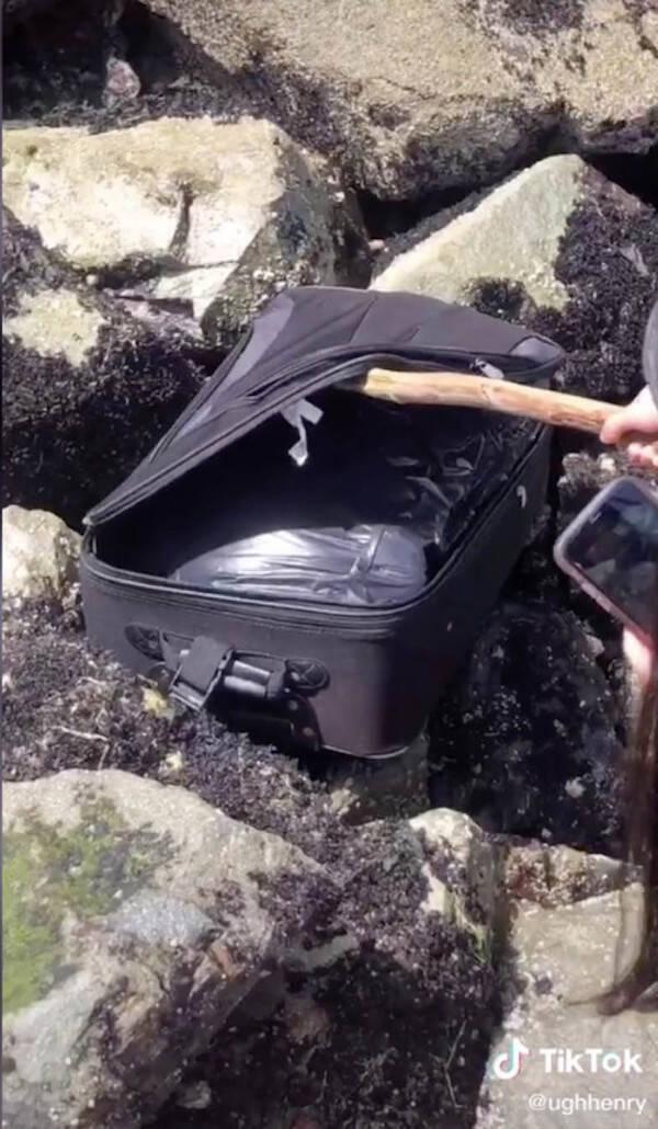 Tiktok Teens Opening Suitcase