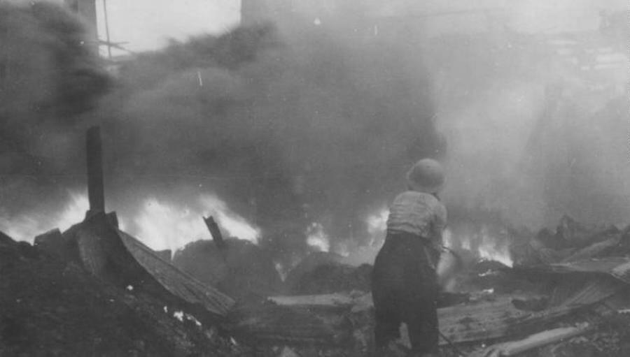 Tokyo Bombing Fires