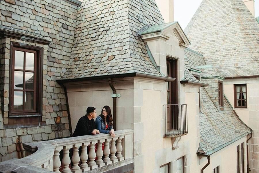 Balcony At Oheka Castle