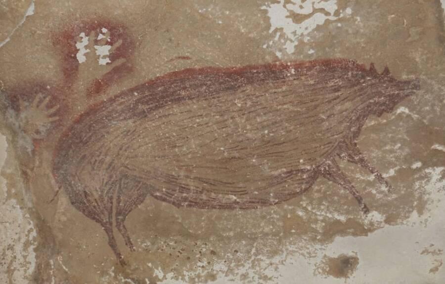 Cave Art Depicting A Pig