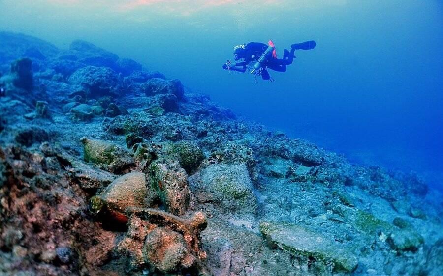 Diver In Kasos Waters