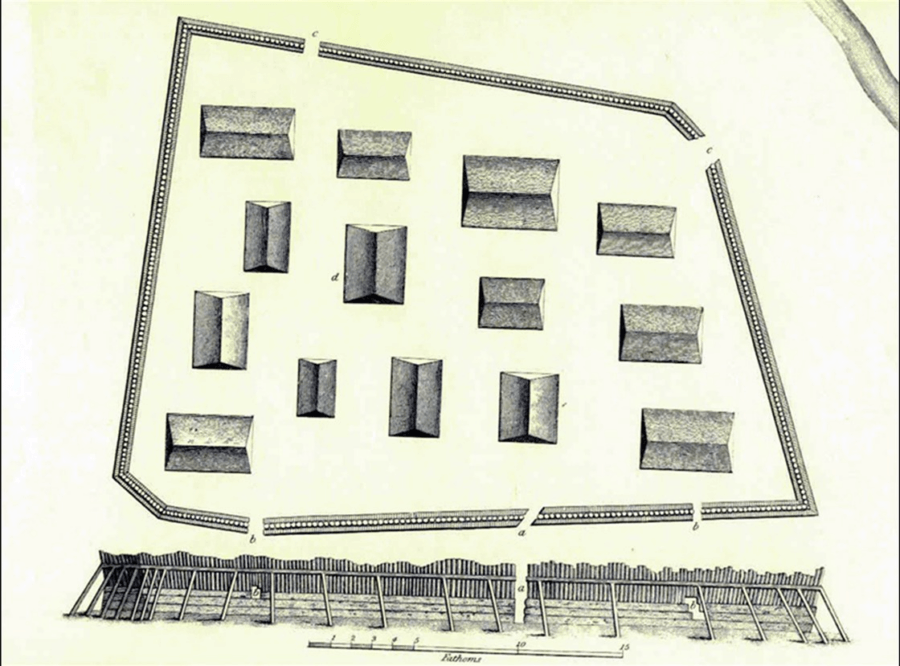 Drawing Of Sapling Fort