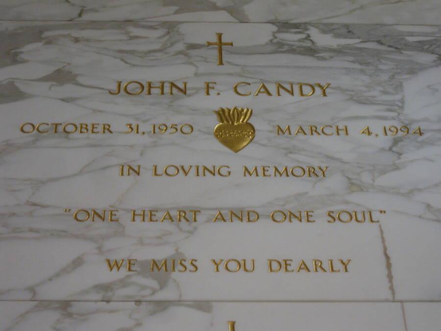 Gravestone Of John Candy
