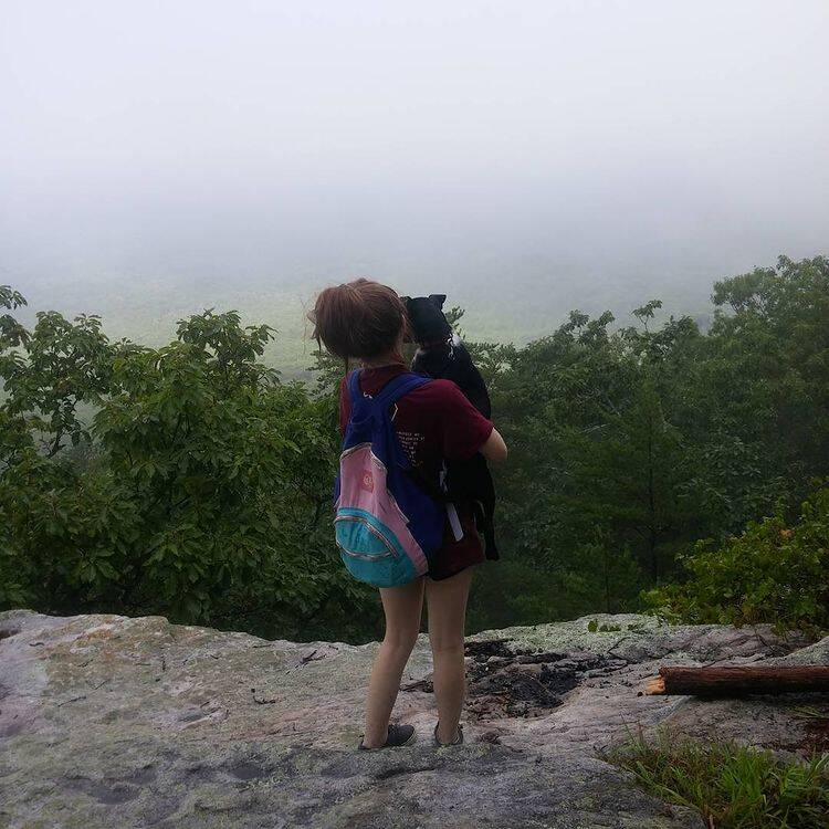 Jolee Callan On A Cliff