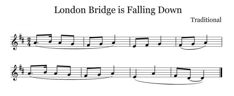 London Bridge Is Falling Down Score