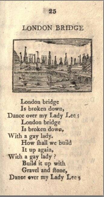 London Bridge Rhyme From Tommy Thumb Pretty Song Book