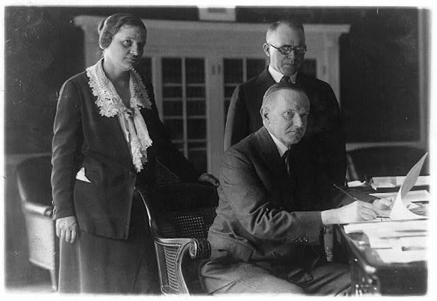 Mabel Walker Willebrandt And Calvin Coolidge