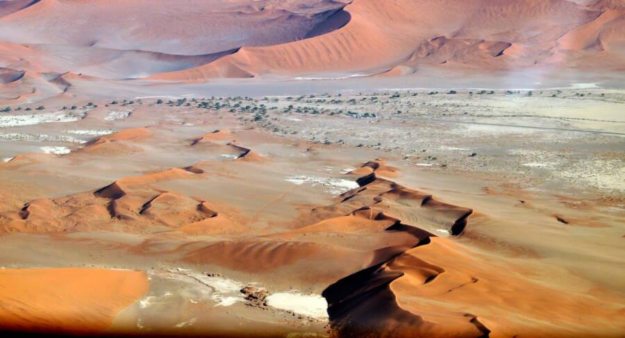 Sossusvlei In Namibian Desert