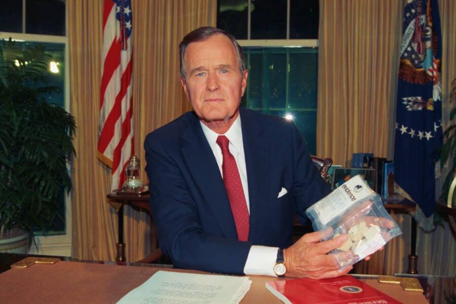 President Bush Holding Crack
