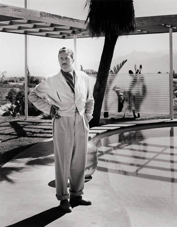 Raymond Loewy By A Pool